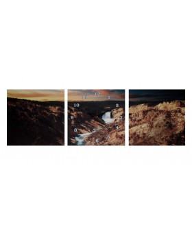 Картина-часы настенные «Вершина»