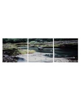 Картина-часы настенные «Река»