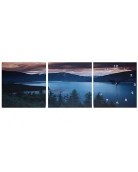 Картина-часы настенные «Озеро»