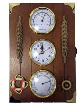 Ключница Настенная «Часы,термометр и гигрометр»