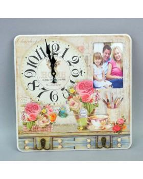 Часы  настенные «Home» с вешалкой