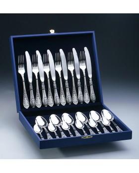 Набор столовых приборов «Royal» посеребренный 24 предмета