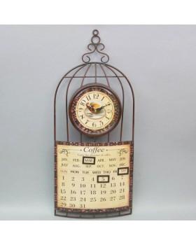 Часы настенные «Календарь Кофе»