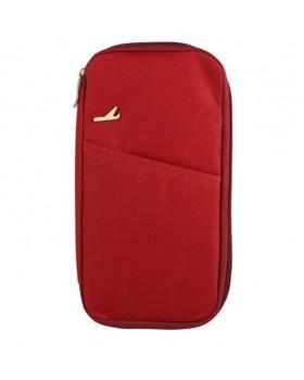 Многофункциональный бумажник Travel red