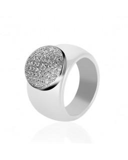Кольцо керамическое «Vilotti» белое
