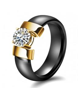 Кольцо керамическое «Gold-Jo» черное