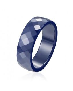 Кольцо керамическое «RombiKo» синее