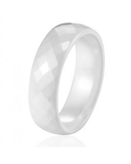 Кольцо керамическое «RombiKo» белое