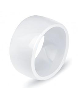 Кольцо керамическое «Vogue» белое