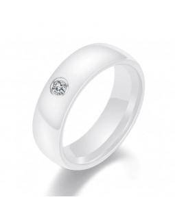 Кольцо керамическое «Ciara» белое