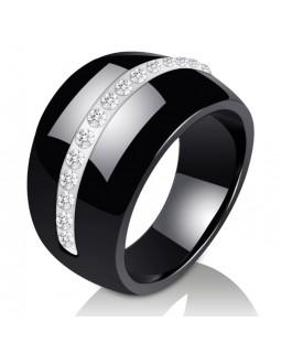 Кольцо керамическое «Gelozzi» черное