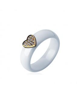 Кольцо керамическое «Miloss» белое