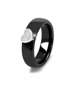 Кольцо керамическое «Miloss» черное