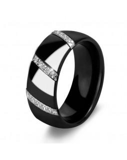 Кольцо керамическое «Viorelli» черное