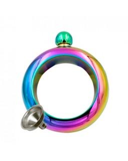 Фляга декоративная в виде браслета на руку Rainbow-Преступница 100ml
