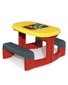 Детский столик парта с лавочками «Cars»