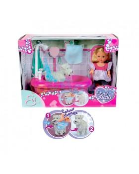 Кукла «Evi с набором для купания песика»