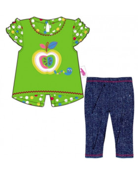 Комплект штанишки и туника с яблочком для куклы 38-46 см «Baby Born»