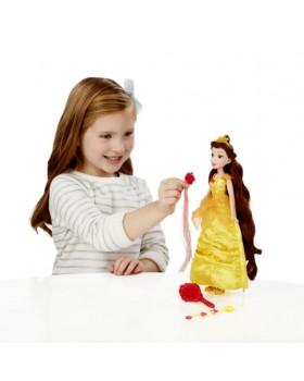Базовая кукла принцесса Белль с длинными волосами