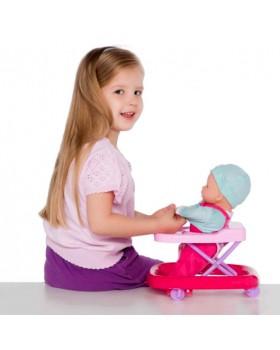 Интерактивная куколка пупс учится ходить в ходунках
