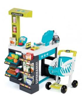Интерактивный супермаркет Color с тележкой, продуктами и аксессуарами