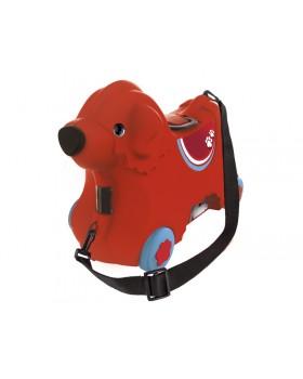 Каталка для малыша «Путешествие» с отделением для вещей, красная