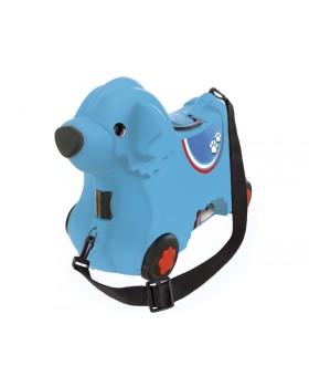 Каталка для малыша «Путешествие» с отделением для вещей, голубая