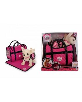 Собачка «Чихуахуа. Розовая мечта» с ковриком и сумочкой, 20 см