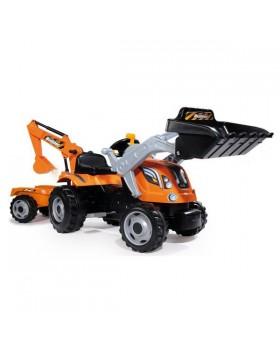 Трактор с ковшом и прицепом Builder Max