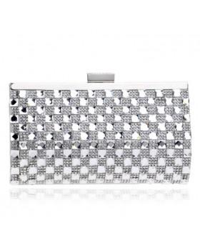Вечерняя сумка silver Chess