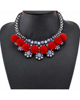 Эксклюзивное ожерелье by BerkaniStyle red