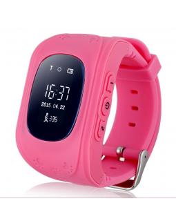 Детские телефон-часы с GPS трекером Q50 Pink