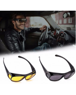 Очки для водителей HD Vision 2 шт yellow and black (комплект)