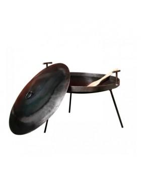 Сковорода-мангал с крышкой в чехле 30 см