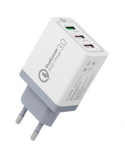 Адаптер зарядка 220V на USB QC 3.0 Fast Charge Блок питания, сетевой адаптер