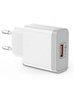 Блок питания, сетевой адаптер, зарядка 220V на USB QC 3.0 Fast Charge