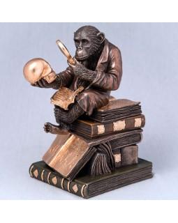 Шкатулка Veronese Обезьяна на книгах 17 см