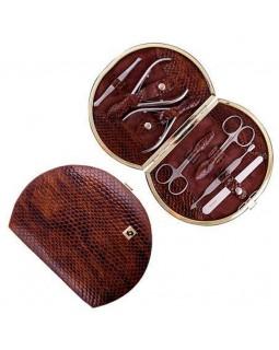 Маникюрный набор Family MS-07/2 Чешуйки коричневые лаковые - 160