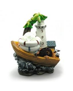 Декоративный фонтан комнатный мини Маяк и лодка