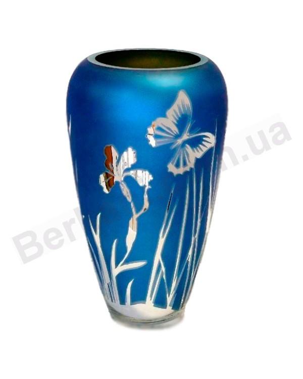 Ваза Дыхание весны blue 40 см
