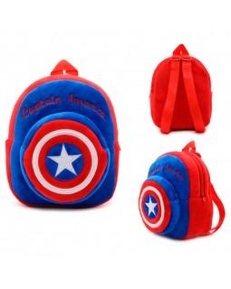 Рюкзак детский плюшевый Captain Americа