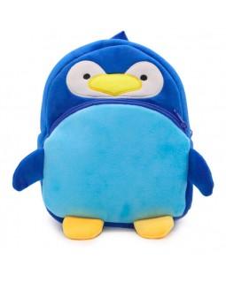 Рюкзак детский плюшевый Пингвин Берни