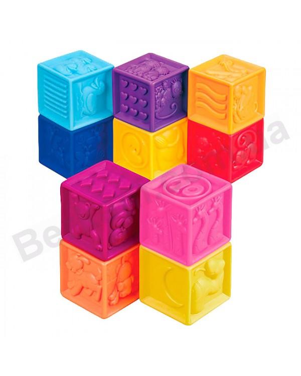 Развивающие силиконовые кубики Посчитай ка в сумочке