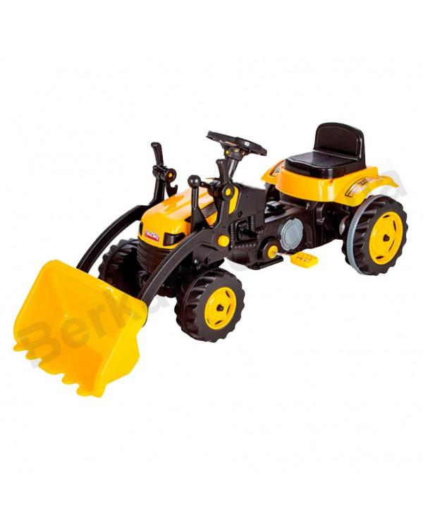 Экскаватор детский на педалях Pilsan с ковшом Yellow