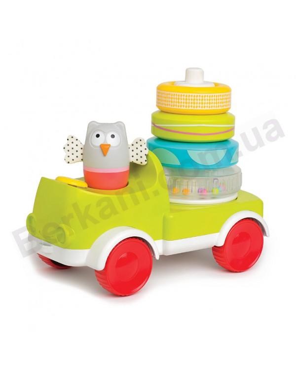 Развивающая машинка с пирамидкой Совушка малышка