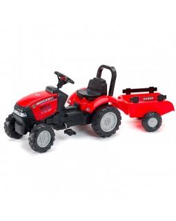 Детский педальный трактор Case IH с прицепом