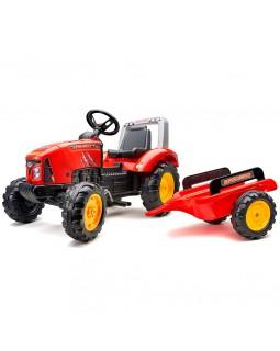 Детский педальный трактор с прицепом Red Supercharger (3-7)