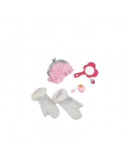 Аксессуары для куклы сумочка Гламур, 4 аксессуара