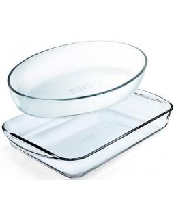 Набор 2 формы для выпечки Essentials 30х21см, 35х23см, жаропрочное стекло
