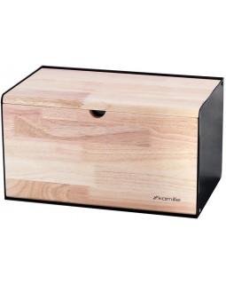 Хлебница Breadbasket Steel-Bamboo 35.5х21.5х19.5см из нержавеющей стали